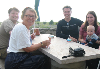 Gotland, a few summers ago, from the left Olof, Kerstin, Jacob, Linda and Samuel.
